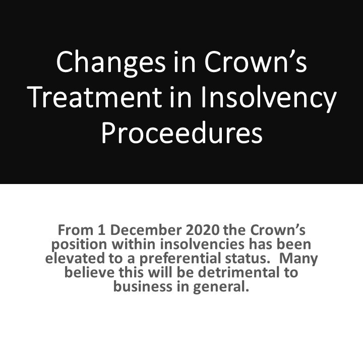 Changes in Crowns Treatment in Insolvency Procedures